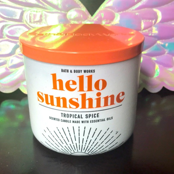BBW 3 wick candle Tropical Spice (Hello Sunshine)